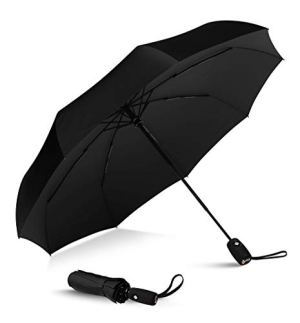 Repel Windproof Travel Umbrella – Double Vented Compact Folding Umbrella with Teflon Coating – Auto Open and Close…