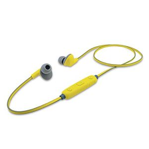iBall EarWear Sporty Wireless Bluetooth Headset with Mic for All Smartphones (Fluorescent Yellow)