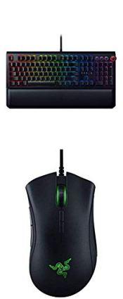Razer Blackwidow Elite Gaming Keyboard with Deathadder Elite Gaming Mouse