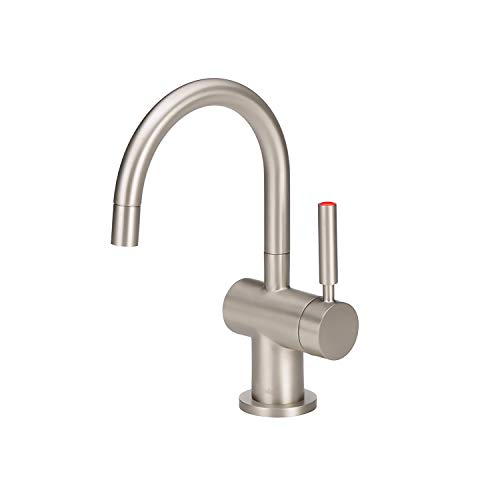 InSinkErator Modern Instant Hot Water Dispenser - Faucet Only, Satin Nickel, F-H3300SN
