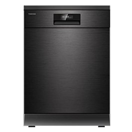Toshiba 15 Place Settings (DW-15F2(BS)-IN, Black Stainless Steel, UV-LED For Better Hygiene)