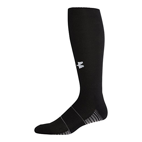 Under Armour Team Over The Calf Socks, 1-Pair, Black/White, Shoe Size: 4-8