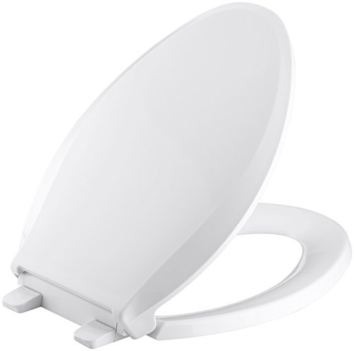 KOHLER K-4636-0 Cachet Elongated White Toilet Seat, with...
