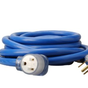 Coleman Cable 1917 8/3 STW 6-50 Welder Extension Cord With 3-Prong Plug In Blue (25-Foot, 8/3 Gauge)