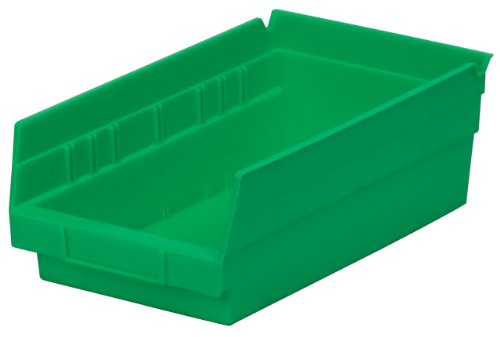 Akro-Mils 30130 12-Inch by 6-Inch by 4-Inch Plastic Nesting Shelf Bin Box, Green, Case of 12
