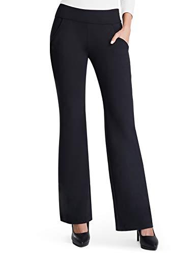 boot cut two pocket dress pant yoga pants black