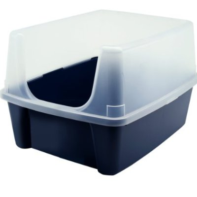 IRIS USA Open-Top Cat Litter Box with Clear High-Shield without...