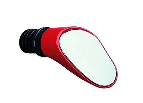 Sprintech Left Drop Bar Mirror, Red