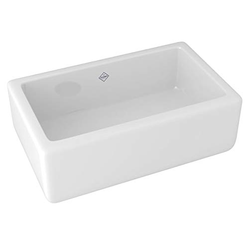 Rohl RC3018WH FIRECLAY KITCHEN SINKS 30-Inch by 18-Inch by 10-Inch...