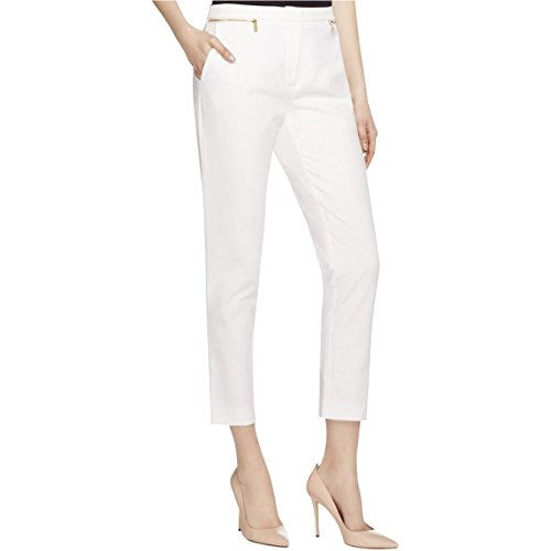 Ankle-length pant featuring zipper hip pockets with logo-engraved pulls Welt back pockets Zip fly with tab closure