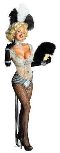 Secret Wishes Womens Marilyn Monroe Showgirl Costume, Silver, Large