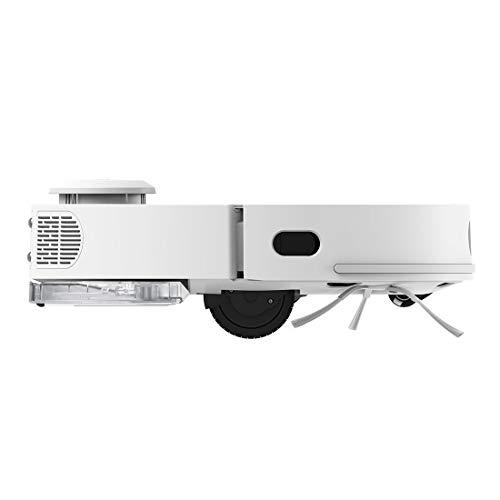360-Aspiradora-robotica-S95200-mAh-de-Capacidad-de-bateria-de-Larga-duracion-2200-pa-de-succion-de-energia-de-Suelo-Duro-mapeo-de-multiples-Plantas-Color-Blanco