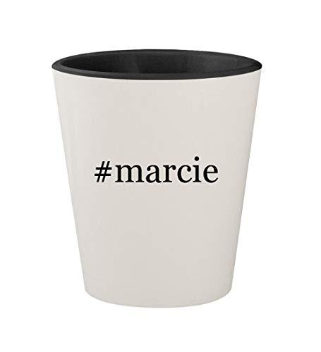 #marcie - Ceramic Hashtag White Outer & Black Inner 1.5oz Shot Glass