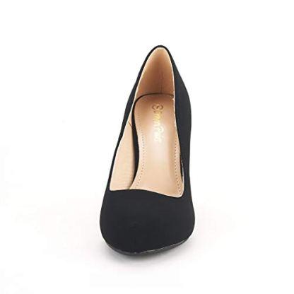 Versatile Low Stiletto Heel Dress Platform Pumps Shoes