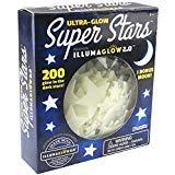 Canguro de Ultra brilla en la oscuridad estrellas; 200unidades w/Bonus luna