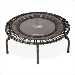 JumpSport 220 | Fitness Trampoline, In-Home Mini Rebounder | Total Body Exercise | Quiet & Safe Bounce | Long Lasting Premium Bungees for Quality & Durability | Music Workout DVD Incl.