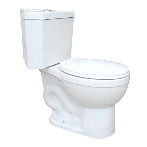Corner White Round Dual Flush Bathroom Toilet Grade A Porcelain Space Saving Design