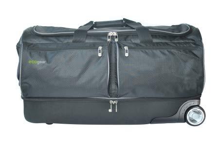 EcoGear 28 Inch Wheeled Duffel with Garment Rack, Black