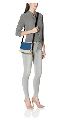 """31rYr9vhZSL Small handbag featuring contrast cross-body strap with antiqued buckle and key charm fob^ Measurements: 9.5""""l x 3.25""""w x 7""""h Adjustable cross body strap"""