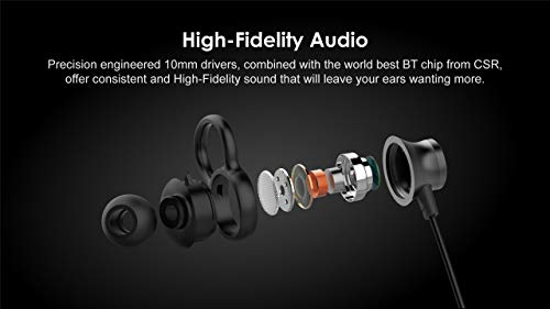 31rbU%2BJCJOL agrd Wireless Magnet Bluetooth Earphone Headphone with Mic, Sweatproof Sports Headset, Best for Running and Gym, Stereo Sound Quality for All Smartphones