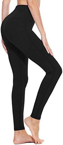 "BALEAF Women's 20"" / 28"" High Waisted Yoga Leggings Workout Capri Tummy Control Pants with Pocket(Plus Size/Regular) 2"