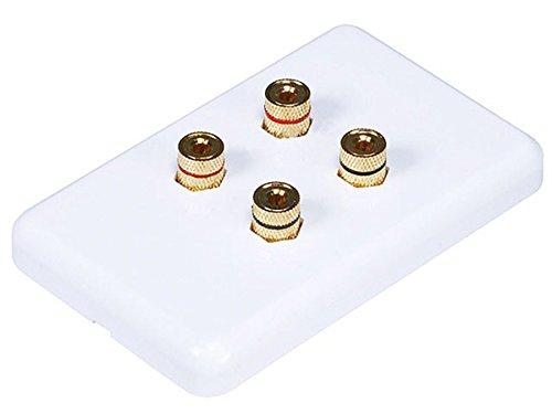 Monoprice 103640 Banana Binding Post Wall Plate for 2 Speaker