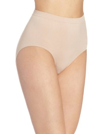 Bali Women's Comfort Revolution Seamless Brief Panty,Nude,6/7