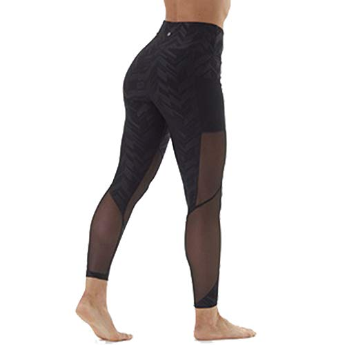 Mesh yoga pants with pockets