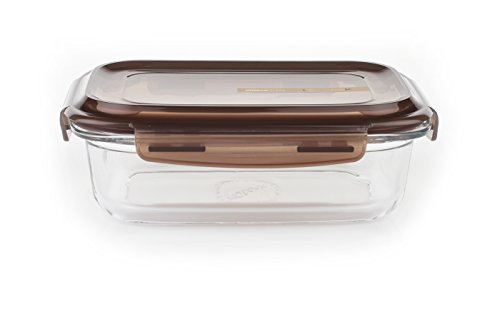 Komax LOOK rectangular sealable glass food storage container 880 ml (29.7 fl.oz.)
