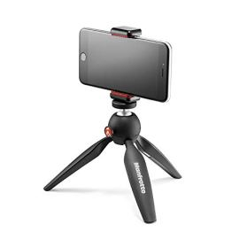 Manfrotto-PIXI-Mini-Tripod-Kit-with-Universal-Smartphone-Clamp-Black-MKPIXICLAMP-BK
