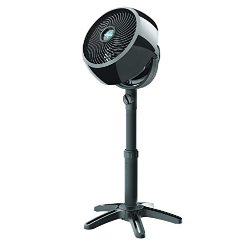 Vornado 7803 Large Pedestal Whole Room Air Circulator Fan with Adjustable Height, Front-Facing Controls, 3 Speed Settings, Multi-Directional Airflow, Removable Grill for Cleaning, Black
