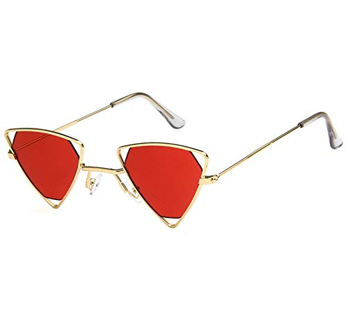 Shiratori Retro Classic Trendy Stylish Sunglasses for Men Women ,100% UV Protection , Triangle Designer Style Red