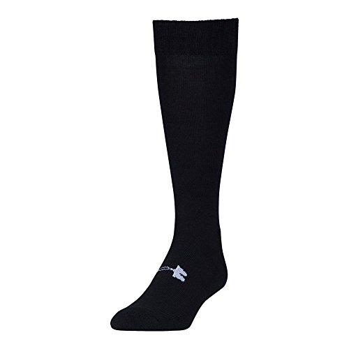 Under Armour Men's Tactical Over The Calf Sock 1-Pair, Black/White, Shoe Size: 9-12.5