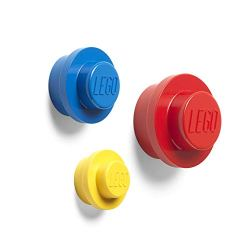 Room Copenhagen 40161732 Lego Wall Hanger Set, One Size, Red/Blue/Yellow