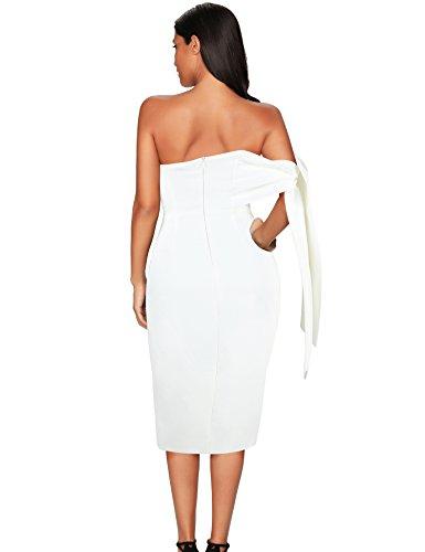 c71e2bc481f Meilun Women's One Shoulder Party Dress Club Bodycon Strapless Dress ...