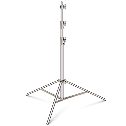 Neewer Stainless Steel Light Stand 102 inches/260 centimeters Heavy Duty with 1/4-inch to 3/8-inch Universal Adapter for Studio Softbox, Monolight and Other Photographic Equipment