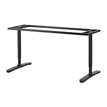 Ikea Bekant Pied De Table Noir 160 X 80 Cm Amazonfr