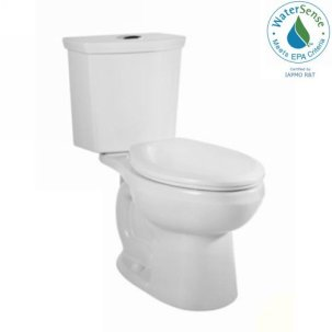 American Standard 2889216.020 H2Option Siphonic Dual Flush Round Front Toilet, White, 2-Piece