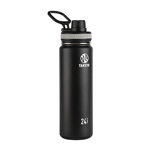 Takeya 50041 Originals Vacuum-Insulated Stainless-Steel Water Bottle, 24oz, Black, 24 oz,