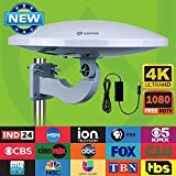 Outdoor HDTV Antenna -Antop Omni-Directional 36 Degree Reception Antenna for Outdoor, Attic,RV Used, 65 Miles Range with Amplifier Booster and 4G LTE Filter, Waterproof, Anti-UV and Easy Install (PL-