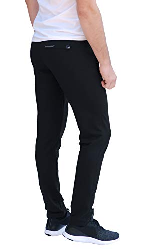SCR SPORTSWEAR Men's Soccer Track Training Pants Athletic Sweatpants with Zipper Pockets Black Heather Grey Short Long Inseam 17 Fashion Online Shop gifts for her gifts for him womens full figure