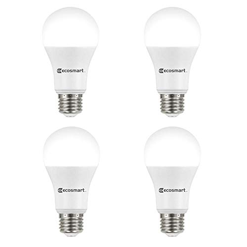 EcoSmart 100-Watt Equivalent A19 Non-Dimmable CEC LED Light Bulb Daylight (4-Pack)