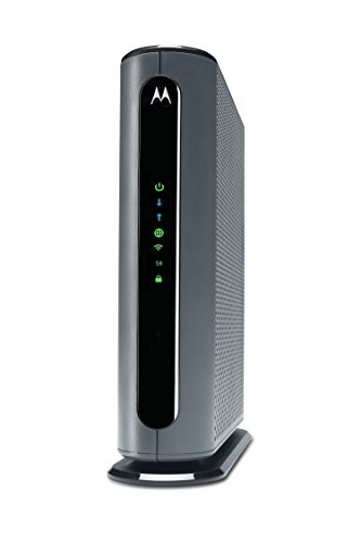 Motorola MG7700 24X8 Cable Modem Plus AC1900 Dual Band WiFi Gigabit Router with Power Boost, 1000 Mbps Maximum DOCSIS 3.0 - Approved by Comcast Xfinity, Cox, Charter Spectrum