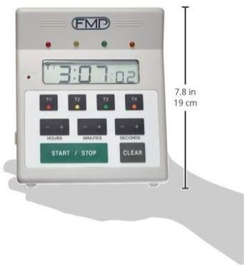 FMP-Digital-4-Channel-Commercial-Kitchen-Countdown-Timer-Water-Resistant-7-inch-Height-White
