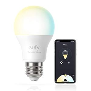 eufy Lumos Smart Bulb 2.0 - Tunable White, Soft White to Daylight, 9W, Compatible with Alexa and the Google Assistant, No Hub Required, Wi-Fi, 60W Equivalent, Dimmable LED Bulb, A19, E26, 800 Lumens