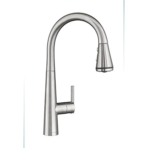 American Standard 4932300.075 Edgewater Pull-Down Kitchen Faucet with SelectFlo, Stainless Steel