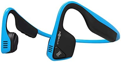 AfterShokz Titanium Open Ear Wireless Bone Conduction Headphones Ocean Blue (Renewed)