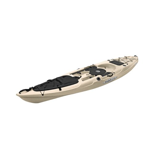 Malibu Kayaks Stealth 14 Fish and Dive Package Sit on Top Kayak, Sand