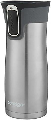 31vloBFRGWL. AC  - Contigo Jackson–Botella de agua reutilizable, 2 unidades, Matte Black & Stainless Steel, 473,18ml, 1 #Amazon