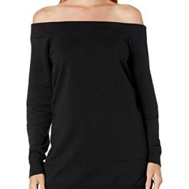 Amazon Brand – Daily Ritual Women's Terry Cotton and Modal Cold Shoulder Tunic